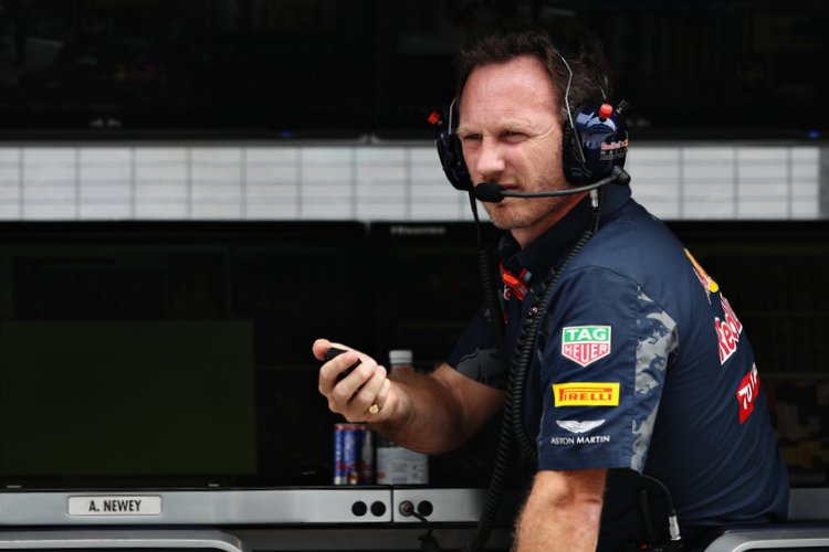 KUALA LUMPUR, MALAYSIA - OCTOBER 01: Red Bull Racing Team Principal Christian Horner sitting on the pitwall during final practice for the Malaysia Formula One Grand Prix at Sepang Circuit on October 1, 2016 in Kuala Lumpur, Malaysia. (Photo by Mark Thompson/Getty Images) // Getty Images / Red Bull Content Pool // P-20161001-00667 // Usage for editorial use only // Please go to www.redbullcontentpool.com for further information. //