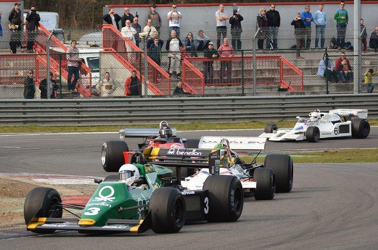Zolder Masters Historic + Belcar Sat 2016 (448) Ian Simmons - Tyrrell 012-Joaquin Folch - McLarenM19C-James Hagen-Ensign-James Wright-ShadowDN8