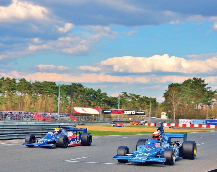 Zolder Masters Historic + Belcar Sat 2016 (81) 70 is Loic Deman in a Tyrrell + car 81 is TBA