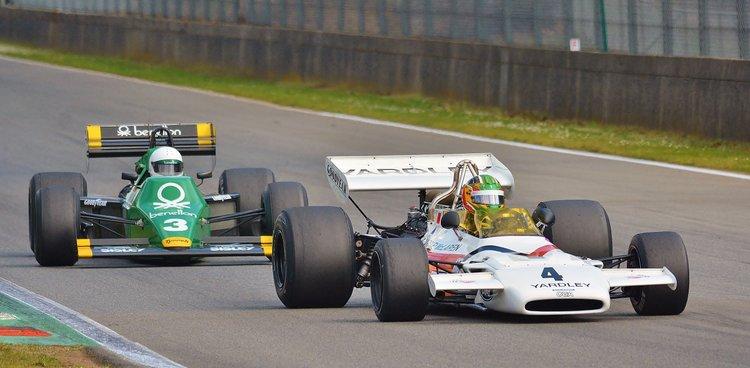 Zolder Masters Historic Races + Belcar - Sun 2016 (235) Joaquin Folch - McLarenM19C +Ian Simmons Tyrrell 012
