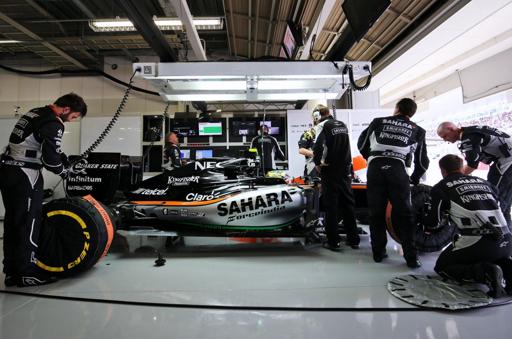Sergio Perez (MEX) Sahara Force India F1 VJM09.Japanese Grand Prix, Sunday 9th October 2016. Suzuka, Japan.