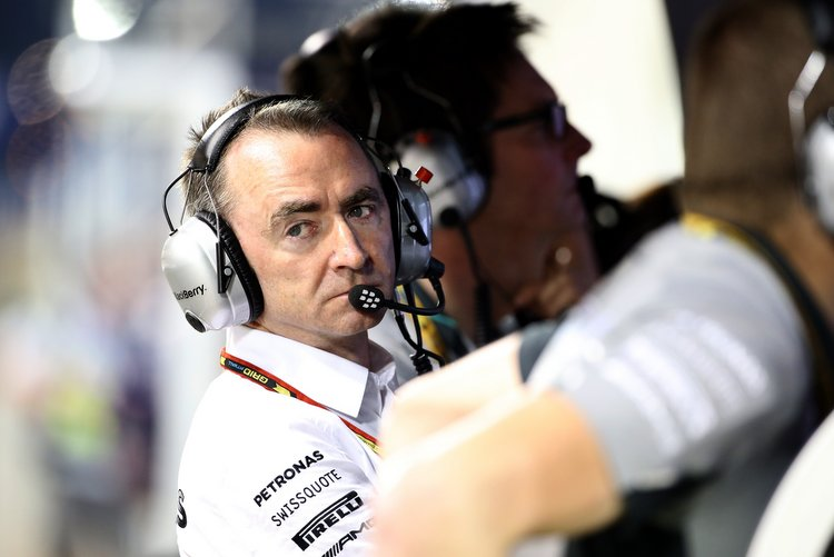 British motor racing engineer and Executive Director of Mercedes Formula One, Paddy Lowe, is seen during the qualifying session of the Formula One Bahrain Grand Prix at Bahrain's Sakhir circuit in Manama on April 5, 2014. AFP PHOTO/PATRICK BAZ (Photo credit should read PATRICK BAZ/AFP/Getty Images)