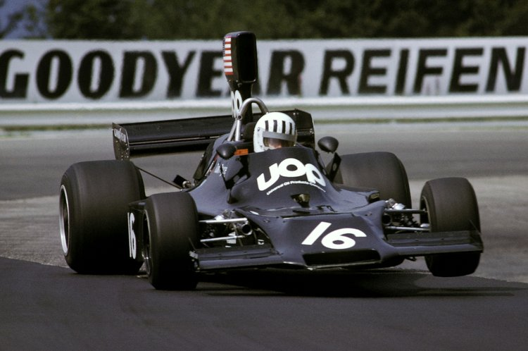Tom Pryce in action during the 1974 German GP