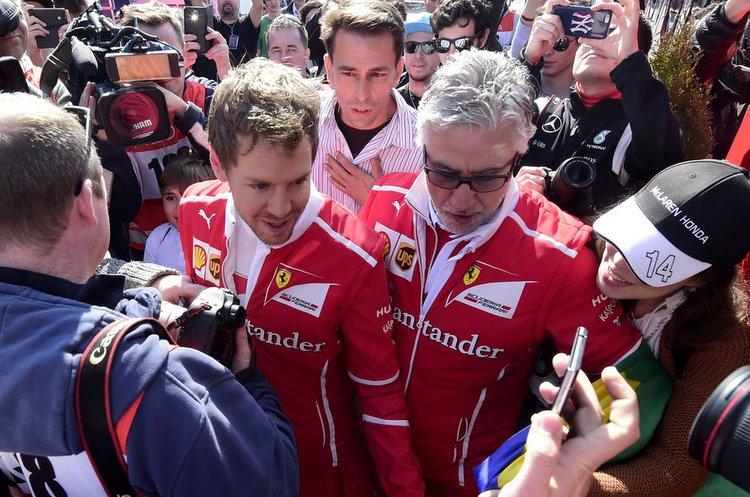 Sebastian Vettel F1 testing Barcelona