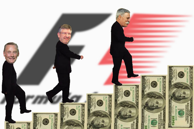 Follow the money, Chase Carey, Sean Bratches, Ross Brawn