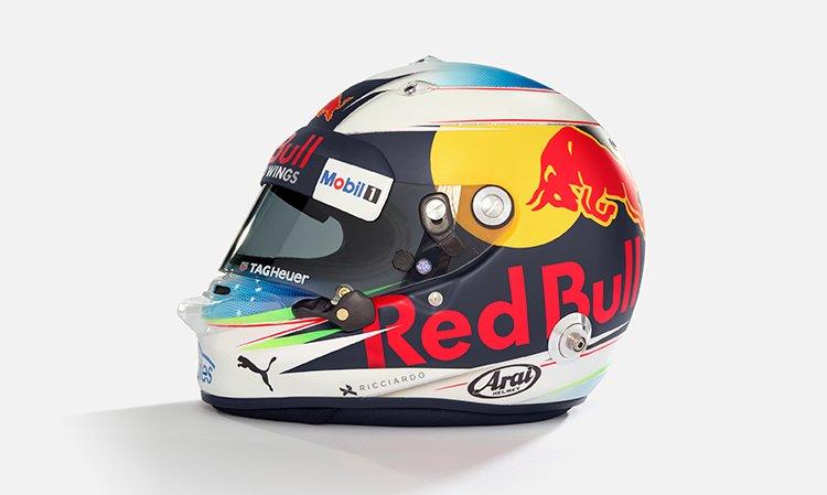 Daniel Ricciardo, helmet