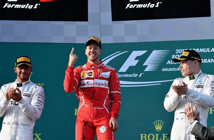 Vettel hamilton Bottas