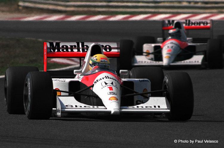 Ayrton Senna and Gerhard Berger at Magny Cours Original 1991 by Paul Velasco (2)