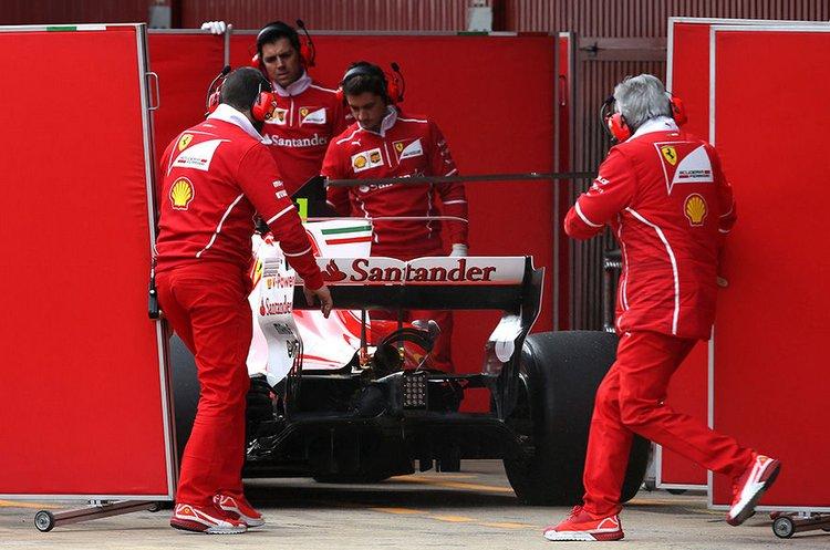 Ferrari Barcelona test