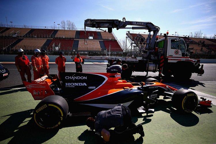 McLaren breaks down