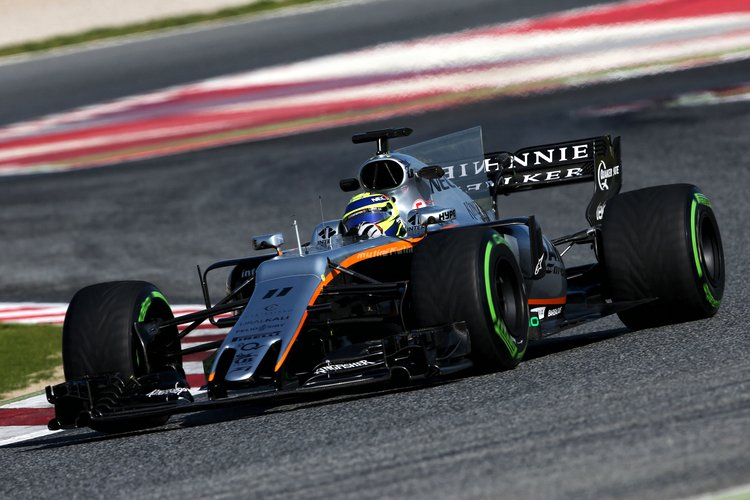 Sergio Perez (MEX) Sahara Force India F1 VJM10.Formula One Testing, Day 4, Thursday 2nd March 2017. Barcelona, Spain.