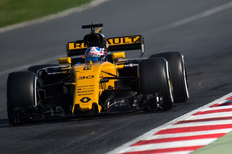 Jolyon Palmer (GBR) Renault Sport F1 Team RS17.Formula One Testing, Day 3, Wednesday 1st March 2017. Barcelona, Spain.