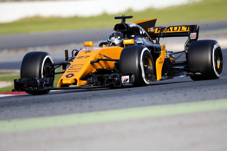 Nico Hulkenberg (GER) Renault Sport F1 Team RS17.Formula One Testing, Day 1, Tuesday 7th March 2017. Barcelona, Spain.