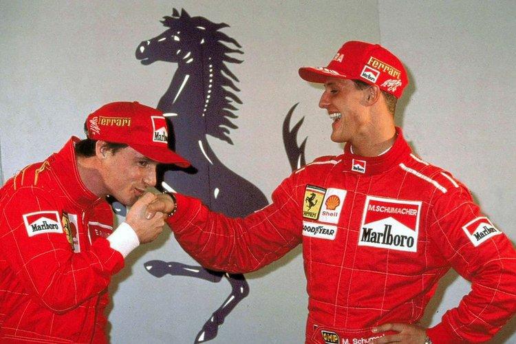 Eddie Irvine, Michael Schumacher