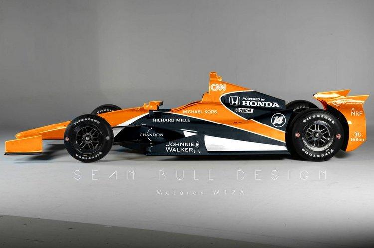 Sean Bull Design, Mcalren Andretti Honda, Indianapolis, Fernando Alonso, Indy 500