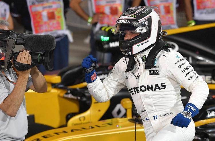 Valtteri Bottas qualifying Bahrain pole position winner first