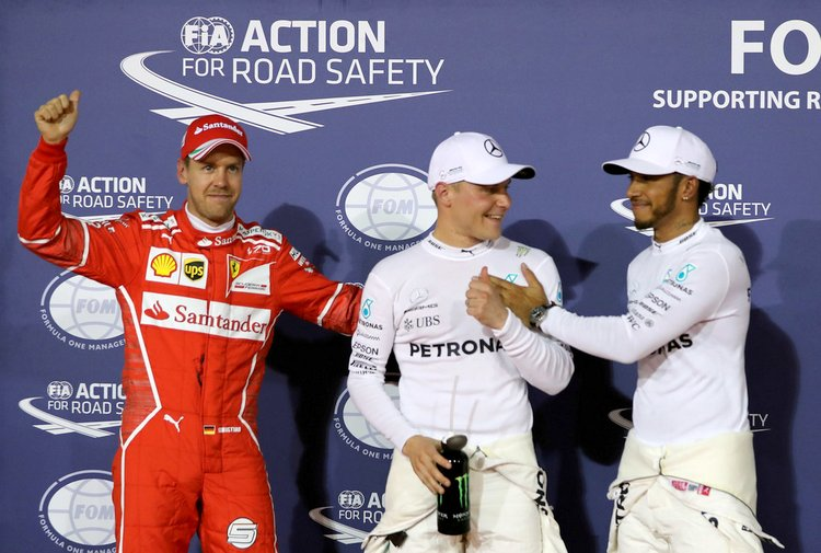 Valtteri Bottas, Mercedes,Lewis Hamilton,Sebastian Vettel,Ferrari