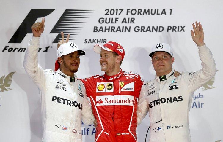 Sebastian Vettel,Ferrari,Lewis Hamilton,Mercedes,Valtteri Bottas,Mercedes