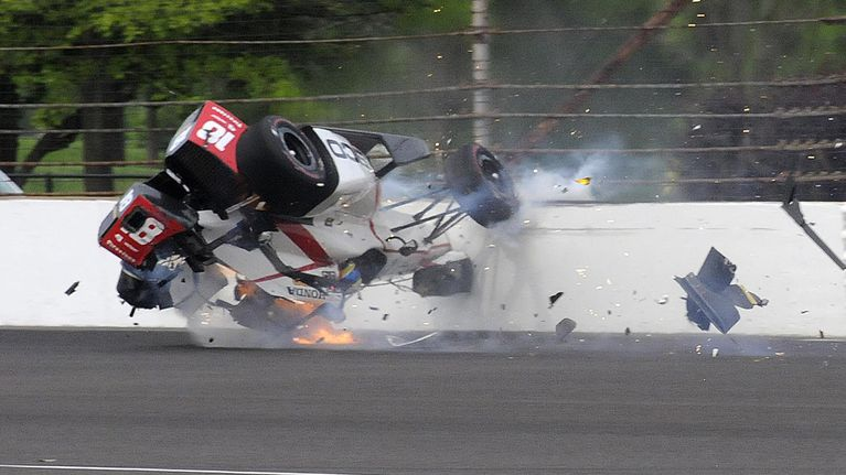 bourdais suffers multiple fractures in indy crash grand prix 247. Black Bedroom Furniture Sets. Home Design Ideas