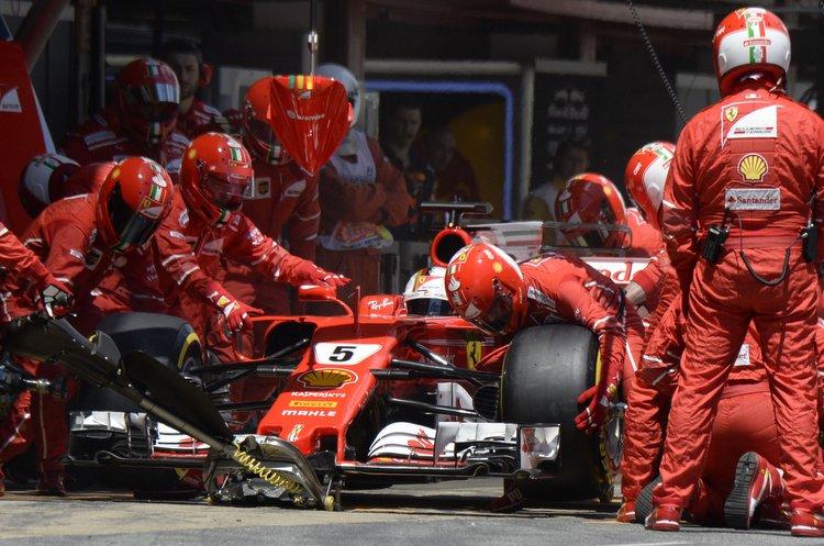 Sebastian Vettel, pitstop