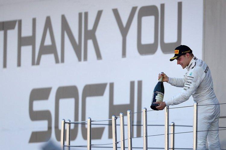 Valtteri Bottas, winner, Sochi
