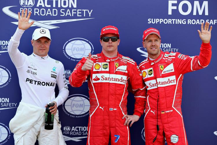 Kimi Raikkonen, Sebastian Vettel, Valtteri Bottas