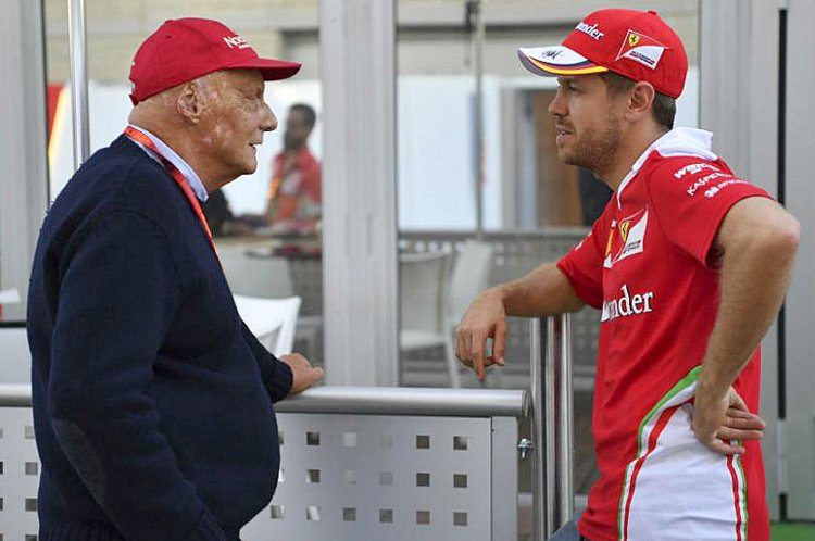 Sebastian Vettel, Niki Lauda
