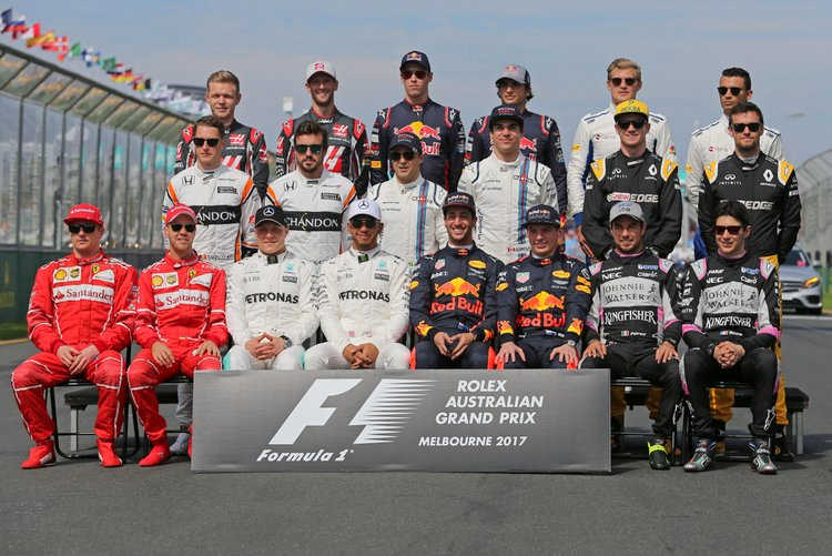 Formula 1 Drivers Group Photo