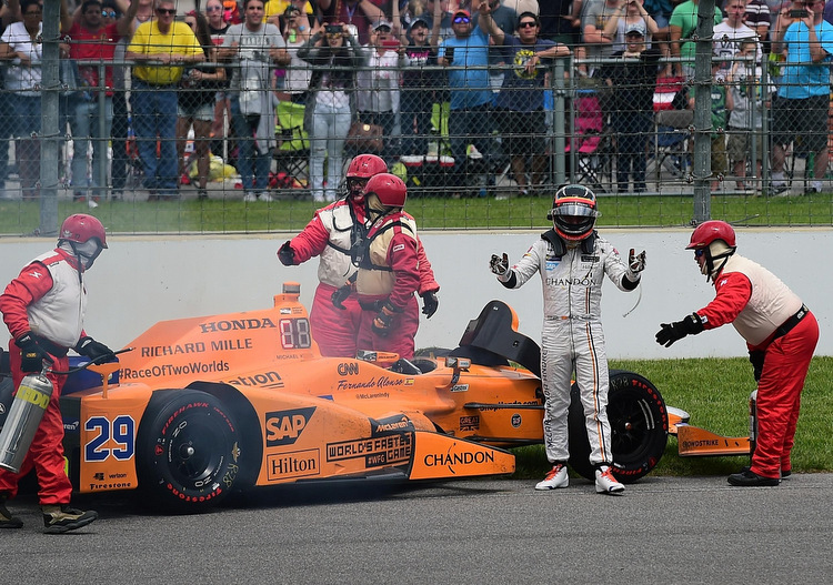 Fernando Alonso, Indy 500, retire, DNF