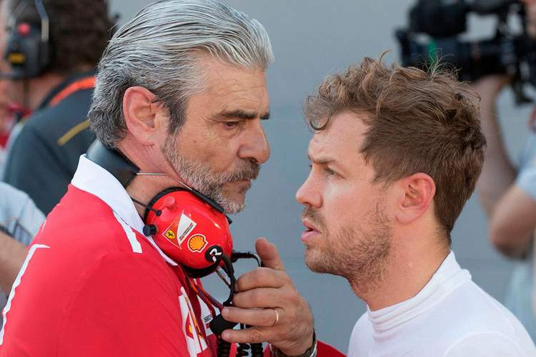 Maurizio Arrivabenne, Sebastian Vettel