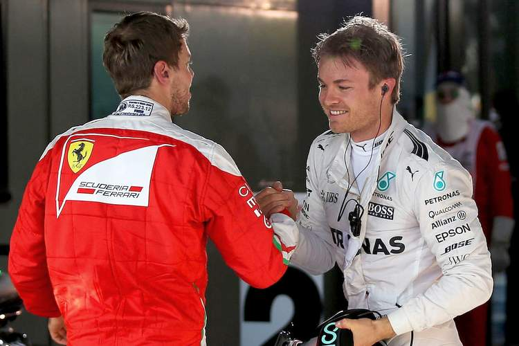 Nico Rosberg, Sebastian Vettel