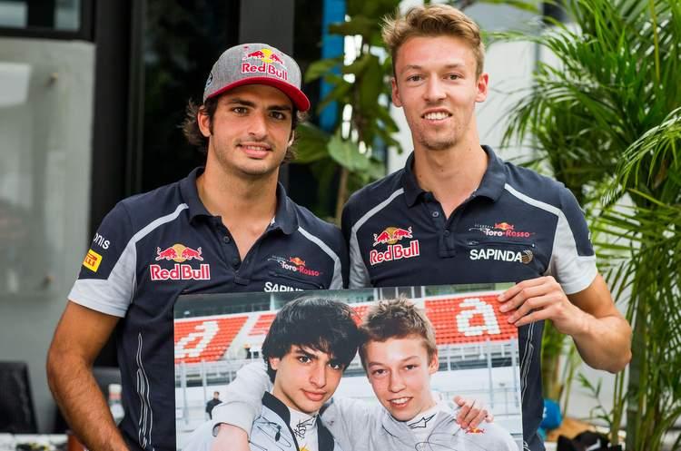 Carlos Sainz and Daniil Kvyat