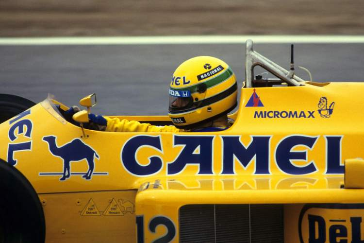 Ayrton Senna, 1987, Camel, Lotus,