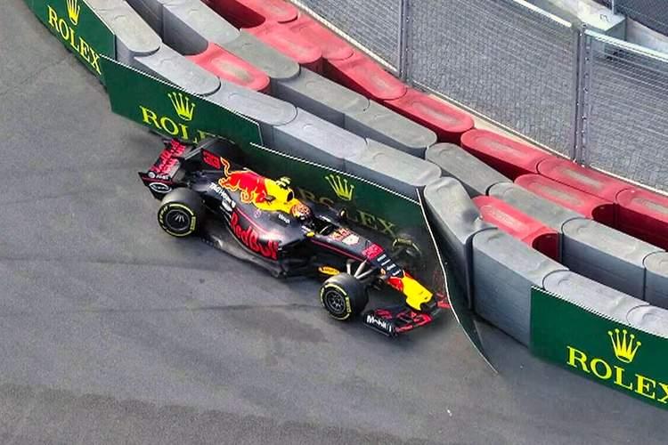 Max Verstappen, crash