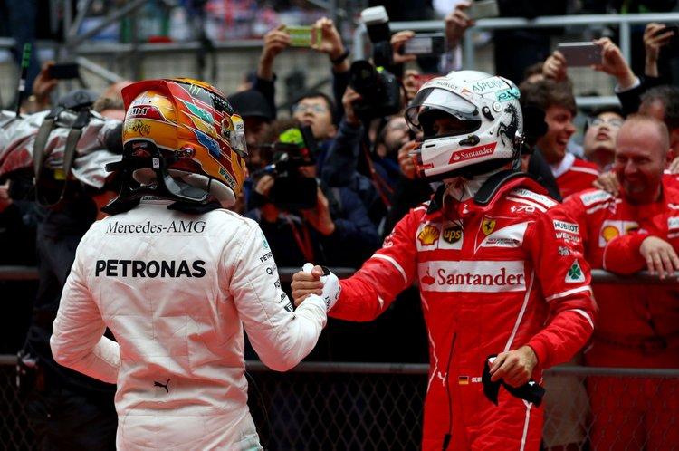 Sebastian Vettel. Lewis Hamilton