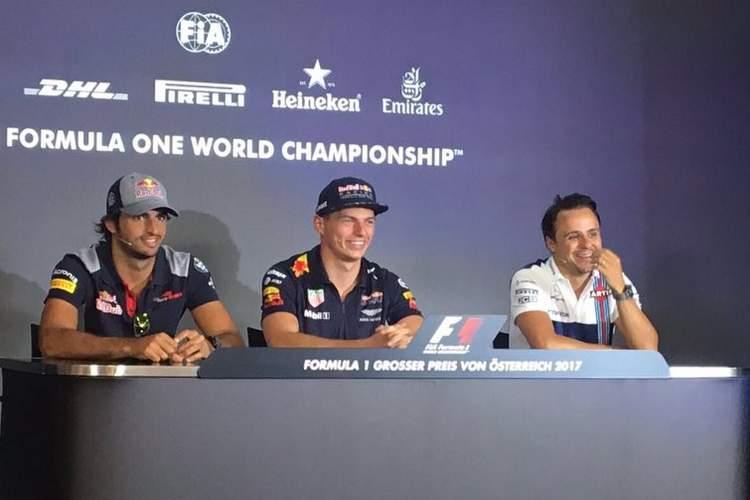 Sainz, Verstappen, Massa
