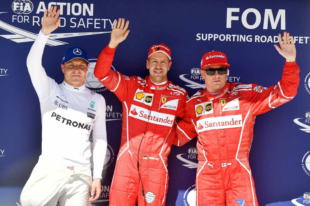 Bottas, Vettel, Raikkonen