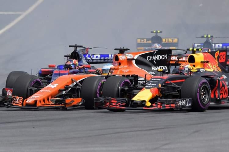 Kvyat, Verstappen, Alonso