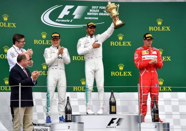 Bottas, Hamilton, Raikkonen