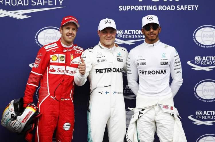 Vettel, Bottas, Hamilton