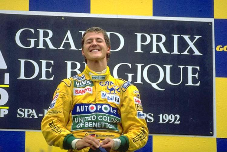1992 Belgian Grand Prix Schumacher first win 23-Aug-17 4-28-46 PM