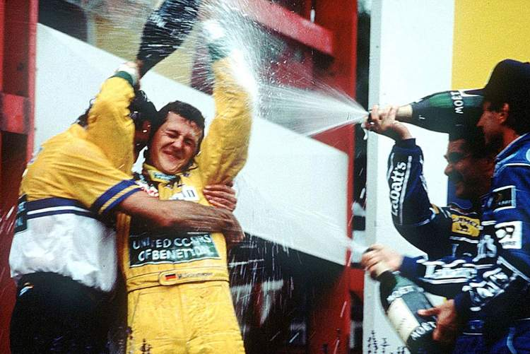 1992 Belgian Grand Prix Schumacher first win 23-Aug-17 4-28-57 PM