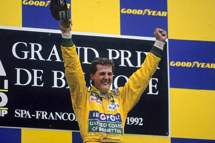 1992 Belgian Grand Prix Schumacher first win 23-Aug-17 4-29-08 PM