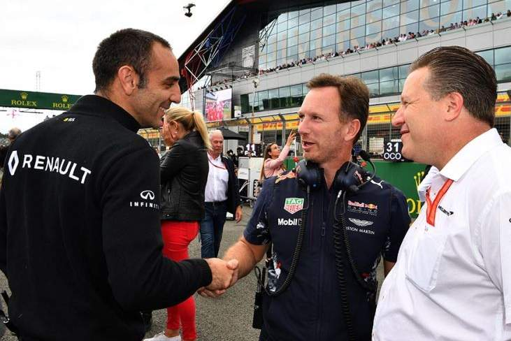 Cyril Abiteboul, Zak Brown, Christian Horner