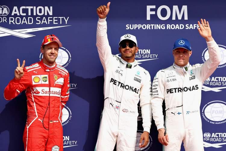 Lewis Hamilton, Sebastian Vettel, Valtteri Bottas
