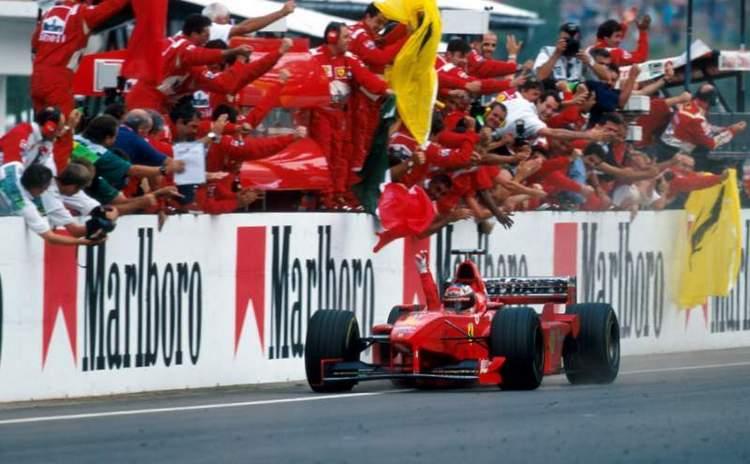 Winner Michael Schumacher (GER), Ferrari F300.Formula One World Championship, Hungarian Grand Prix, Rd12, Hungaroring, Budapest, Hungary, 16 August 1998.