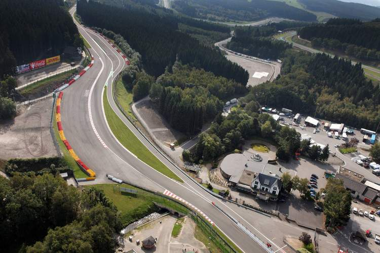 Spa-Francorchamps aerial view