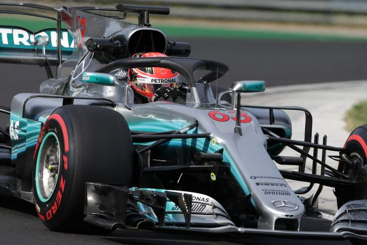 2017 In-Season Testing Hungary, Day 2 Halo Russell Mercedes