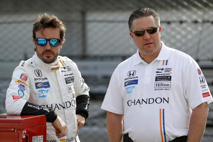 Fernando Alonso, Zak Brown