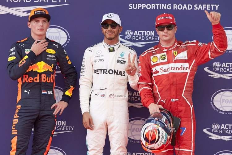 Lewis hamilton, Kimi Raikkonen, Max Verstappen